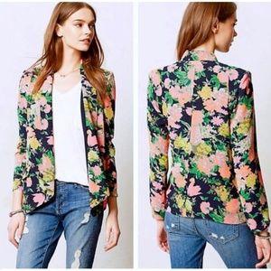 Anthropologie Cartonnier Botanic Floral Blazer